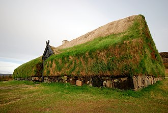 Hekla - Main building of the replica of Stöng, which was buried under volcanic ash from the 1104 eruption