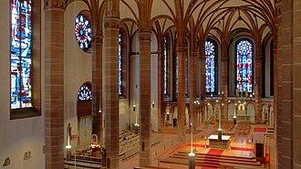 Gabriel Dessauer - St. Bonifatius, Wiesbaden, interior from the organ loft, photograph by Dessauer