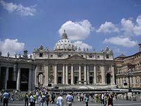 St. Peter's Basilica Facade, Rome, June 2004.jpg