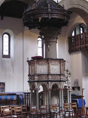 St Aidan's Church, Leeds - Image: St Aidans Pulpit