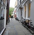 St Edward's Passage, Cambridge, looking toward Peas Hill (cropped).jpg