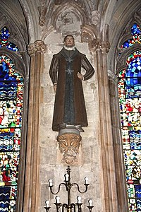 St Etheldreda, Ely Place, London EC1 - Nave statue - geograph.org.uk - 1613385.jpg