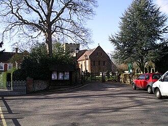Berkswell - Image: St John the Baptist church approach 1m 08