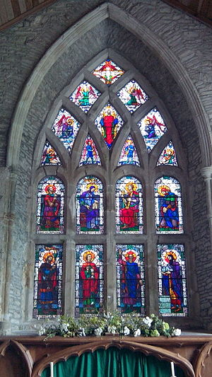 St Laserian's Cathedral, Old Leighlin - East Window, featuring 8 saints by Catherine Amelia O'Brien