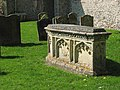 St Mary's - ornate tomb in churchyard - geograph.org.uk - 1263628.jpg