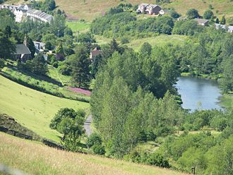 Cwmtillery - St Paul's overlooking lower Cwmtillery lake