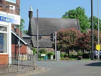 Milton, Staffordshire - Image: St Philip and St James Church at Milton crossroads