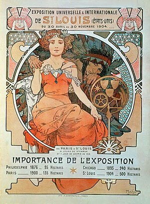 Louisiana Purchase Exposition - Poster for the Exposition painted by Alphonse Mucha