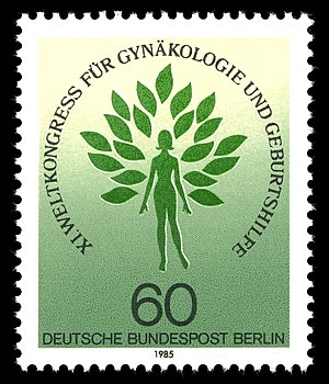 International Federation of Gynaecology and Obstetrics - German stamp, XI FIGO World Congress 1985