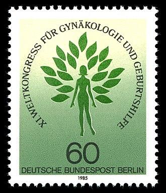 International Federation of Gynaecology and Obstetrics - German stamp, XI FIGO World Congress 1985