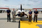Standing by a CAP Cessna, members from the North Dakota Civil Air Patrol pose.JPG