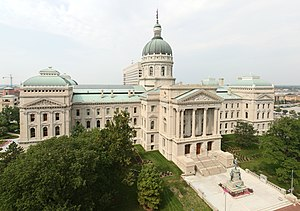 Governor of Indiana - The Indiana Statehouse where the governor's office is located