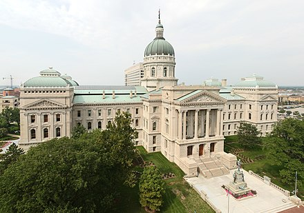 The Indiana Statehouse in Indianapolis StateCapitolIndiana.jpg