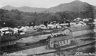 Mount Perry railway line - Mount Perry railway station and town in 1907