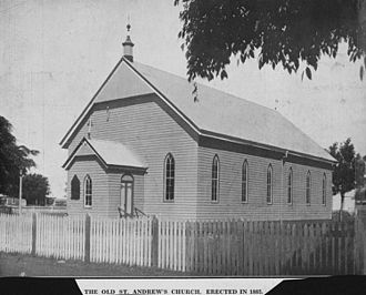 St Andrews Uniting Church, Bundaberg - The original St Andrew's Presbyterian Church, circa 1930