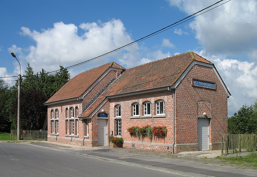 The former railway station of Westrozebeke (municipality of Staden, province of West Flanders, Belgium)