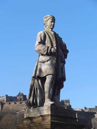 John Steell - Statue of Allan Ramsay in West Princes Street Gardens, close-up