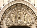 Statues on the Brussels town hall - IMG 3622.JPG