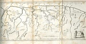 John Gabriel Stedman - A map of Stedman's Surinam, from the original edition of Stedman's Narrative.  Provided with permission by Pennsylvania State University Eberly Family Special Collections Library.