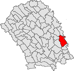 Location of Ștefănești, Botoșani