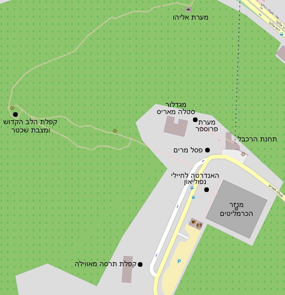 Stela maris mapa