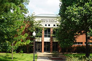 Stephen F. Austin State University - The Arthur Temple School of Forestry is located on the Stephen F. Austin campus.