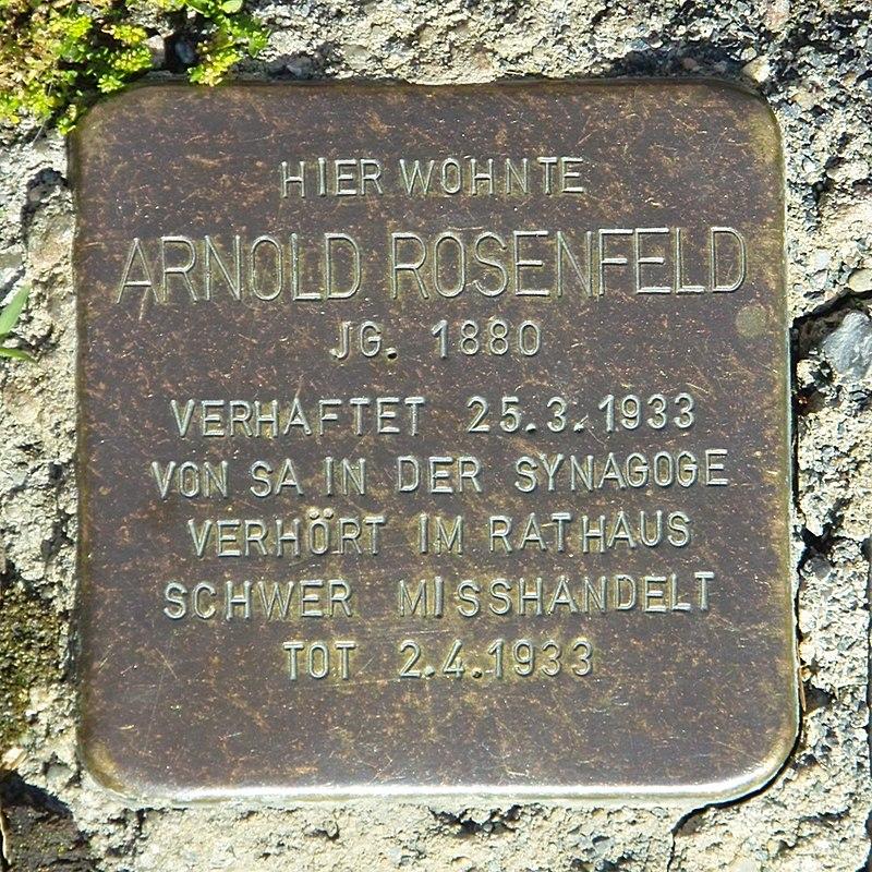 Stolperstein Arnold Rosenfeld Creglingen SDIM0410.jpg