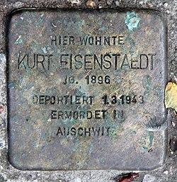 Photo of Kurt Eisenstaedt brass plaque