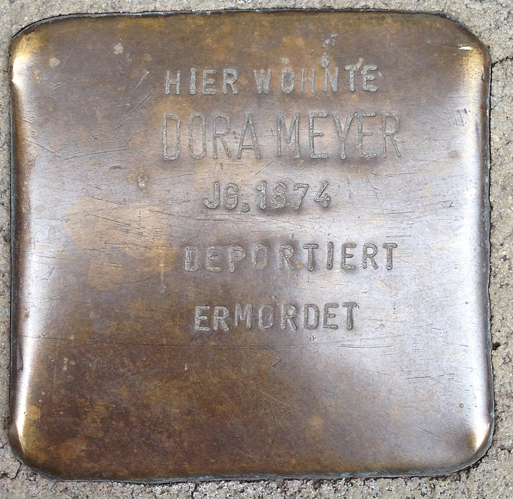 Stolperstein Haltern Rekumer Straße 18 Dora Meyer