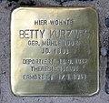 Stolperstein Holsteiner Ufer 10 (Hansa) Betty Kurzweg.jpg