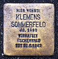 Stolperstein Köln, Klemens Sommerfeld (Alte Wallgasse).jpg