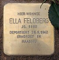 Stolperstein Luitpoldstr 13 (Schön) Ella Feldberg.jpg