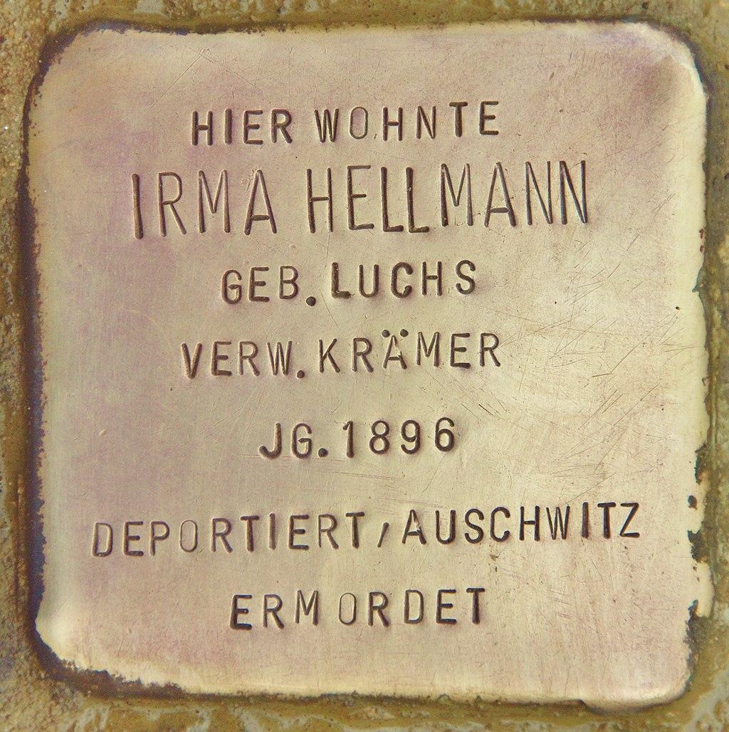 Stolperstein für Irma Hellmann (Schnaittach).jpg