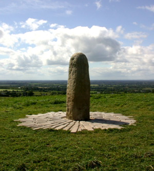 Hill of Tara - The Lia Fáil (Stone of Destiny) atop the Hill of Tara, County Meath