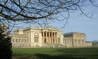 Georgian architecture - Neoclassical grandeur; Stowe House 1770-79 by Robert Adam modified in execution by Thomas Pitt