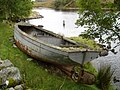 Stranded Boat on bank of River Ewe - geograph.org.uk - 249301.jpg