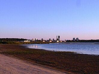 Haabersti - View at the center of Haabersti from the Stroomi Beach (Pelguranna).