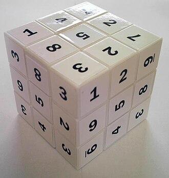 Sudoku Cube - A scrambled Sudokube puzzle