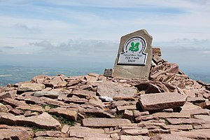 Pen y Fan - A National Trust plaque marking the summit