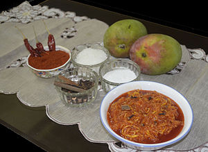 Chhundo - Chhundo with items used in its preparation