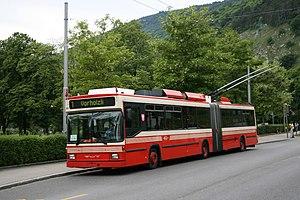 Trolleybuses in Biel/Bienne - Image: Swisstrolley Biel