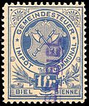Switzerland Biel Bienne 1892 revenue 1Fr - 3.jpg