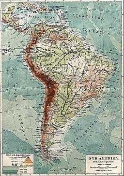 Syd-Amerika. Flod- och bergssystem, Nordisk familjebok