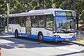 Sydney Buses (2120 ST) Custom Coaches 'CB60' Evo II Volvo B12BLE Euro 5 on Olympic Boulevard at Sydney Olympic Park.jpg