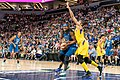 Sylvia Fowles is guarded by Candace Parker under the basket in the Minnesota Lynx vs Los Angeles Sparks game.jpg