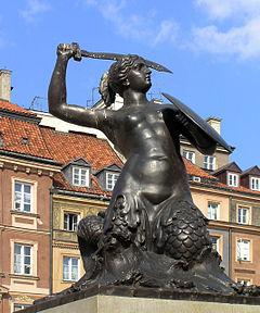 华沙美人鱼雕像 (老城区)