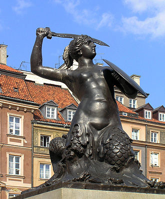 Mermaid of Warsaw - The mermaid in the centre of Warsaw's Old Town