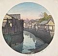 Tōkyō jūnikagetsu, Azabu Ninohashi no gogo by Kawase Hasui.jpg