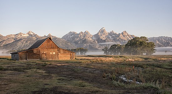 The T. A. Moulton Barn in Wyoming, by Gillfoto.