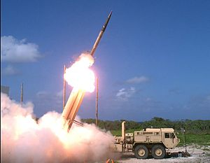Terminal High Altitude Area Defense - A THAAD interceptor is launched from a THAAD battery during Flight Test Operational (FTO)-02 Event 2a where two air-launched ballistic missile targets were successfully intercepted in November 2015.